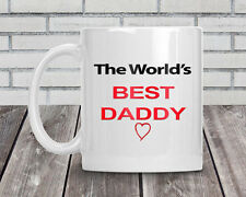 Personalised The World's Best Daddy mug gift idea Birthday Fathers Day