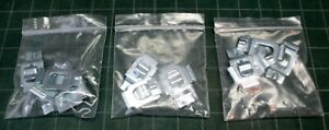 Hallowell Steel Shelf Clips - 12 ea - for commercial / industrial shelving