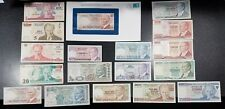 18 Vintage Banknotes of Turkey ~ Some Better Grade ~ #8B