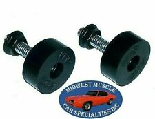 62-80 Chrysler ABE Body Hood Adjuster Adjusting Support Rubber Bumper Bolt 2pc B
