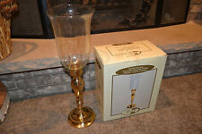 """India House Romance Collection 21"""" Brass Candle Stand w/ Optic Glass Globe VGC!"""