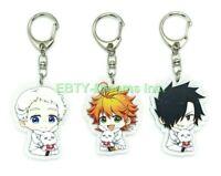 Set of 3 Promised Neverland Yakusoku Anime Acrylic Keychain Emma, Norman, Ray