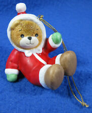 Lucy and Me Christmas Bear Tumbling 1985 Enesco Hanging Ornament