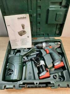 Metabo PowerMaxx BS Basic Mobile Werkstatt Akku-Bohrschrauber 2 Li-Akkus + LC40