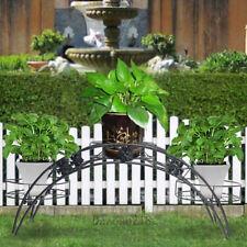 2 TIER Metal Shelves Flower Pot Plant Stand Display Indoor Outdoor Garden Patio