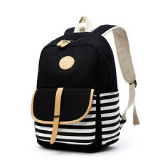 DAMILY Cute Lightweight Canvas School Bag Casual Backpacks for Girls