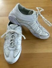 Nfinity Evolution cheer shoes size 8 women white with red case