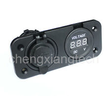 Marine Grade Boat Car USB Charge Scoket/DC DIGITAL BATTERY VOLT GAUGE Voltmeter