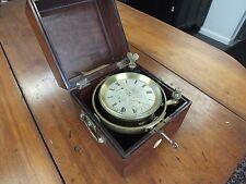 Antique Brockbank & Atkins 8 day Marine Chronometer