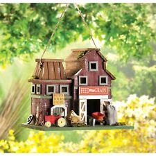 Birdville Detailed Wooden Quaint Country Farmstead Barnyard Garden Birdhouse New