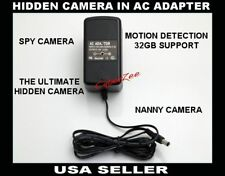 Ac adapter Spy camera Motion detecting 365 Day monitoring Audio & Video Rec 1