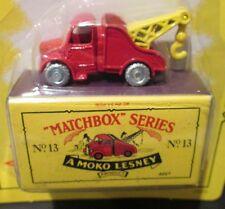 BEDFORD WRECK TOW TRUCK ~ Matchbox Recreation Originals No. 13 ~ WORN CARD
