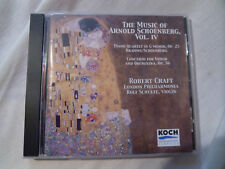 THE MUSIC OF ARNOLD SCHOENBERG VOL. IV. CRAFT, LONDON PHILHARMONIA, SCHULTE. CD