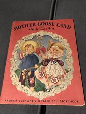Dolls from the Land of Mother Goose Cut Outs Antique Paper Doll Book Unused