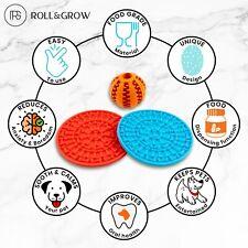 New listing Dog Lick Pad Pet feeders Roll&Grow Dog Lick Pad Lick mat silicone feeders 3 pcs