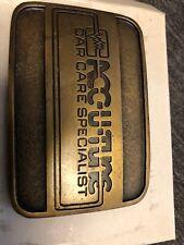 Acc-u-Tune Car Care Specialist Brass Belt Buckle