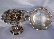 Lot 2 Antique Foreign Silver Pedestal and Footed Serving Dishes English Hallmark