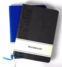 A5 Leather Notepad Pad - Book Lined 240 Page Paper Notebook Tabbed Pattern