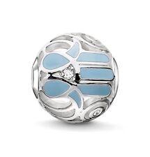 New THOMAS SABO Sterling Silver & Blue Enamel Fatimas Hand Karma Bead K0208 £49