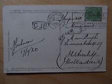 Postcard Bruxelles Antwerpen Antwerp Olympics Olympiade Bourse Exchange 1920