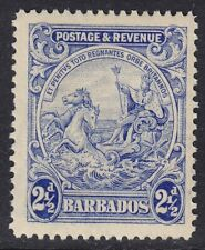 BARBADOS 1925 SG233a 2½d BRIGHT ULTRAMARINE UNMOUNTED MINT
