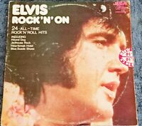 ELVIS ROCK N ON, 12 INCH VINYL LP DOUBLE ALBUM RCA. NZ PRESSING