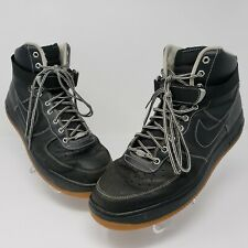 Nike Air Force 1 High '07 Mens Black  Winter Workboot Shoes Size 13