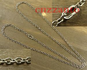 Pure Titanium O shaped chain necklace anti-allergy 23.6 inch (60cm) Ti047