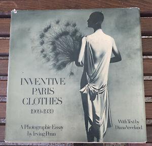 Irving Penn & Diana Vreeland Inventive Paris Clothes 1909-1939 Hardcover Book