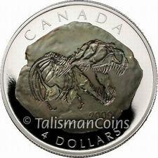 Canada 2009 Dinosaur Fossil Tyrannosaurus Rex $4 Pure Silver Proof T. Rex