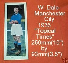 #D80.  1936 SOCCER  FOOTBALL CARD - MANCHESTER CITY, W. DALE