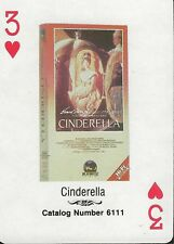 Cinderella RARE 1988 CBS Fox Promotional Playing Card Ginger Rogers