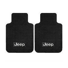 New 2pc Jeep Factory Truck Logo Front All Weather Heavy Duty Rubber Floor Mats