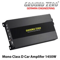 Ground Zero GZIA 1.1450DXII - Mono Class D Car Amplifer Bass Amp 1450W BNIB
