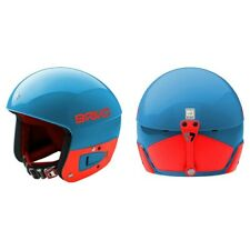 Briko Vulcano Junior FIS Adjustable Ski Helmet - Blue Orange, S/M (53-56cm)