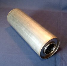 """50mm bore (2"""") 4"""" Round x 12"""" Long Universal Stainless steel exhaust silencer"""