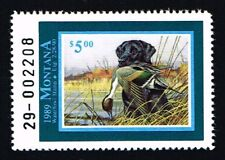 CKSTAMPS : 1989 US Montana State Ducks Hunting Stamps $5.00, Mint NH OG VF
