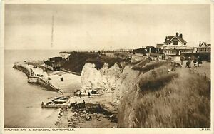 Kent postcard - Walpole Bay and Bungalow, Cliftonville 1947 Free UK Postage
