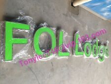 Green Front Lit Channel Letters Sign, made by stainless steel,Sign Wholesale