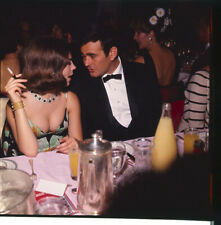 Natalie Wood sexy low cut dress busty Candid Stuart Whitman originl transparency