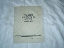 Hesston tractor microfiche machine user's guide operator's manual