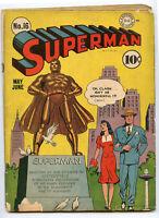 Superman 1942 Comic Book No. 16 May June DC Clark Kent - BJ117