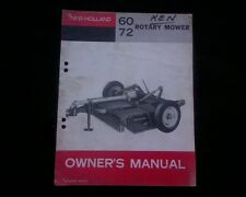 New Holland 60 & 72 rotary mower / slasher Owners operators manual book