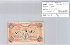 Chambre de Commerce d'Eure & Loir 1 Francs Avril 1917 Pirot 7
