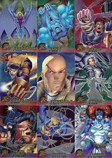 X-MEN CHROMIUM 1995 FLEER U PICK PARALLEL SIGNATURE INSERT CARDS 5 FOR $4.99 MA