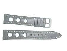 "RIOS1931 Genuine Russian Leather Watch Band Strap 18 mm Gray ""Kaluga"""