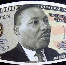 Martin Luther King Jr I had a dream FREE SHIPPING! Million-dollar novelty bill