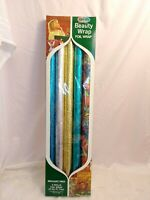 5 ROLLS VINTAGE CHRISTMAS ~ BIRTHDAY ~  WEDDING - GIFT WRAPPING PAPER FOIL RETRO