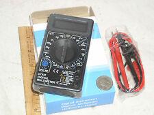 DIGITAL ECONOMY LOW COST HANDHELD LCD DVM VOM MULTIMETER VOLT AMP AMMETER METER