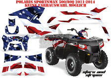 AMR Racing DECORO GRAPHIC KIT ATV POLARIS SPORTSMAN modelli Stars N STRIPES B